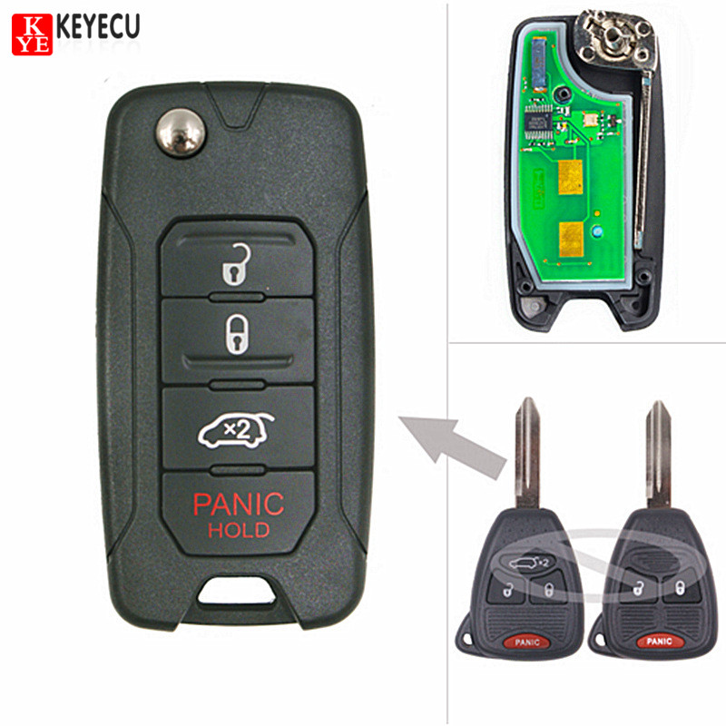 Aliexpress Com Buy Keyecu Flip Replacement Remote Car
