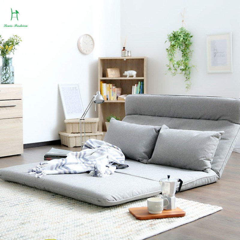 the new japanese style tatami folding sofa bed cloth bedroom lounger fashion warm double bed - Tatami Bed