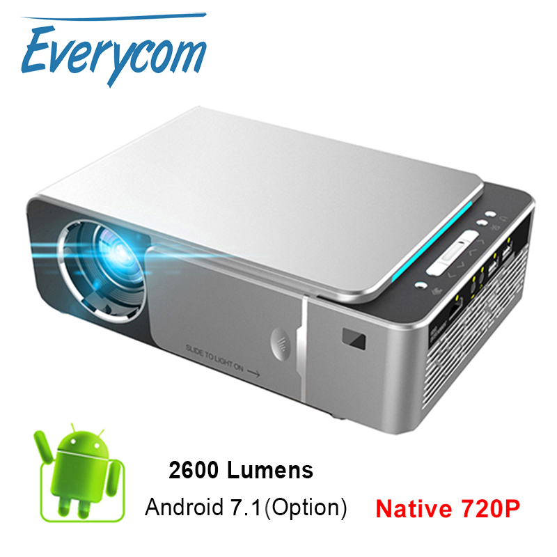 Everycom Mini Projector T6 1280x720 Resolution LED Portable HD Beamer for Home Cinema Optional Android WIFI