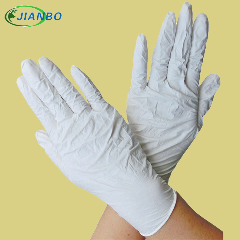 100Pcs Disposable White Nitrile Gloves Laboratory Latex Working Gloves For Kitchen Medical Dentistry Oil-proof Acid Resistance white disposable latex examination gloves labor insurance rubber laboratory 50 bag