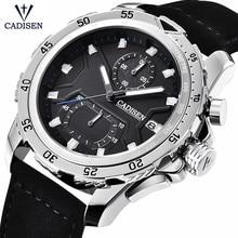 2018 Men Business Waterproof Quartz Watch Top Brand CADISEN Casual Leather Sports Fashion Male Clock Reloigo Masculino