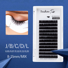 Seashine Classic Single Individual Lash Extension False Eyelash J B C D L Curl Natural Soft Volume lashes