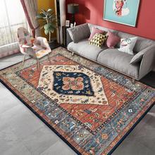 Alfombra de estilo persa, alfombra nórdica para sala de estar, sofá, mesa de café, alfombra marroquí, alfombra de suelo para sala de estudio, alfombras Vintage para decoración del hogar