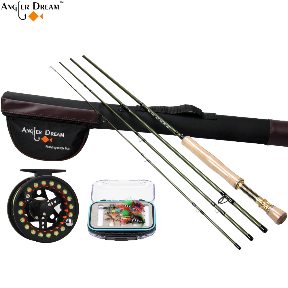 Fly Fishing Rod Combo 7.5/8.3/9FT 3/4/5/8WT Carbon Fiber Fly Rod with Aluminum Fly Fishing Reel Line Triangle Rod Tube цена и фото