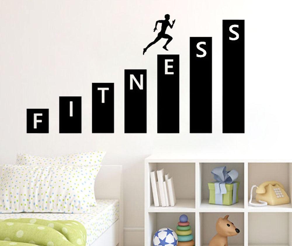Fitness Gym Wall Decal Vinyl Sticker Art Decor Bedroom Design Mural  Interior Decoration Living Room Bedroom