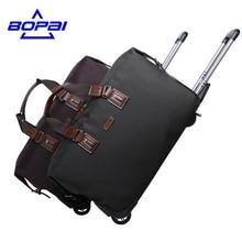 2017 Women Rolling Luggage trip suitcases Waterproof Trolley Travel Bags Weekend Duffle Bag MenTravel Bag maletas de viaje BOPAI