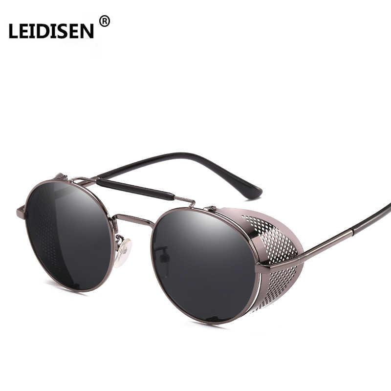 cf42ac431f7ba LEIDISEN Steampunk Sunglasses Men Women 2018 Brand Designer Sun Glasses For  Ladies Punk Goggles Vintage Female