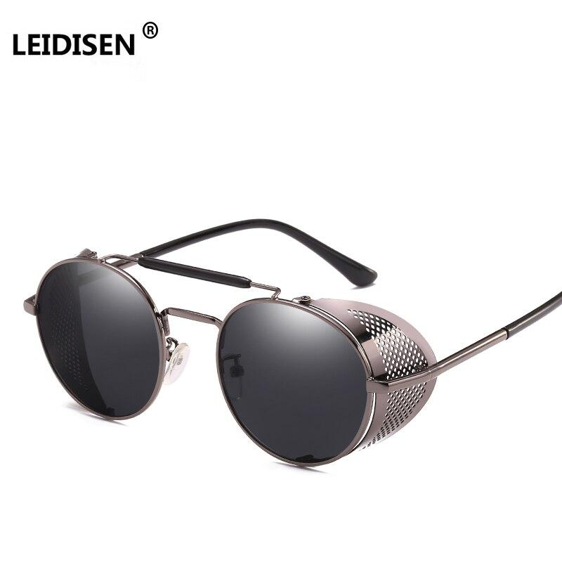LEIDISEN Steampunk gafas de sol hombres mujeres 2018 marca diseñador gafas de sol para las gafas de Punk Vintage mujer Oculos Masculino