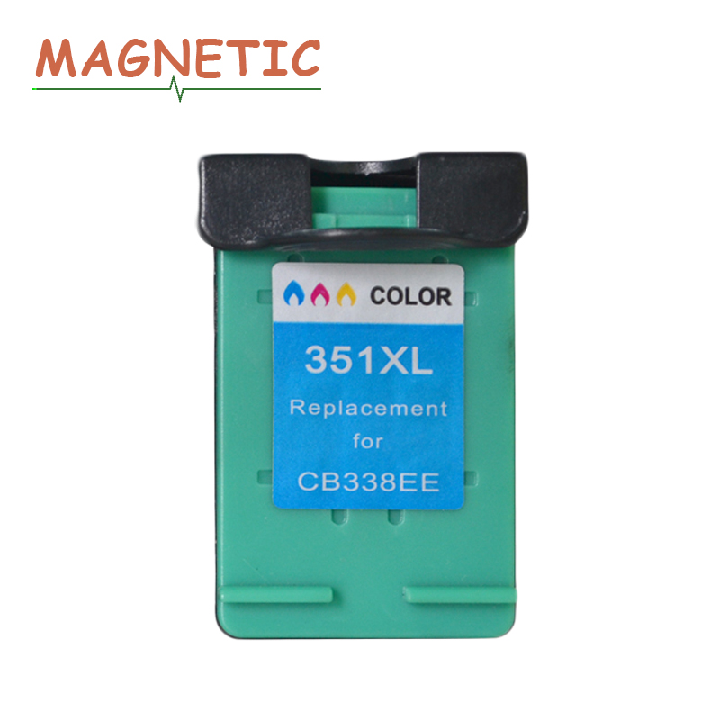 Magnetic Compatible ink <font><b>Cartridge</b></font> For HP351 for <font><b>HP</b></font> <font><b>351</b></font> XL C4200 C4480 C4580 C4380 C4580 C5280 C5200 C5240 5250 5270 inkjet 351XL image
