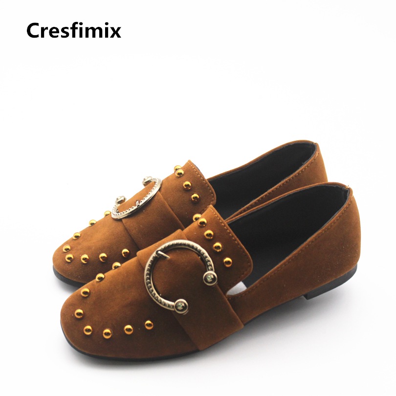 Cresfimix sapatos femininas women casual spring & summer slip on flat shoes lady leisure soft flats zapatos de mujer cute shoes cresfimix sapatos femininas women casual soft pu leather flat shoes with side zipper lady cute spring