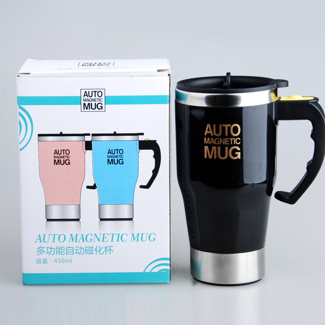 Self Stirring Mug Stainless Steel Double Wall  4