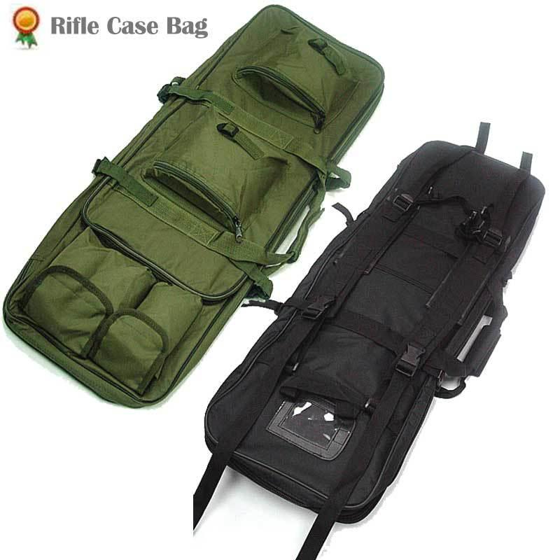 Heavy Duty Double Fusil Pistolet Cas Sac Tactique Airsoft AEG Étui De transport Gun Bag Militaire Chasse Sport Épaule carabine à air comprimé sacs