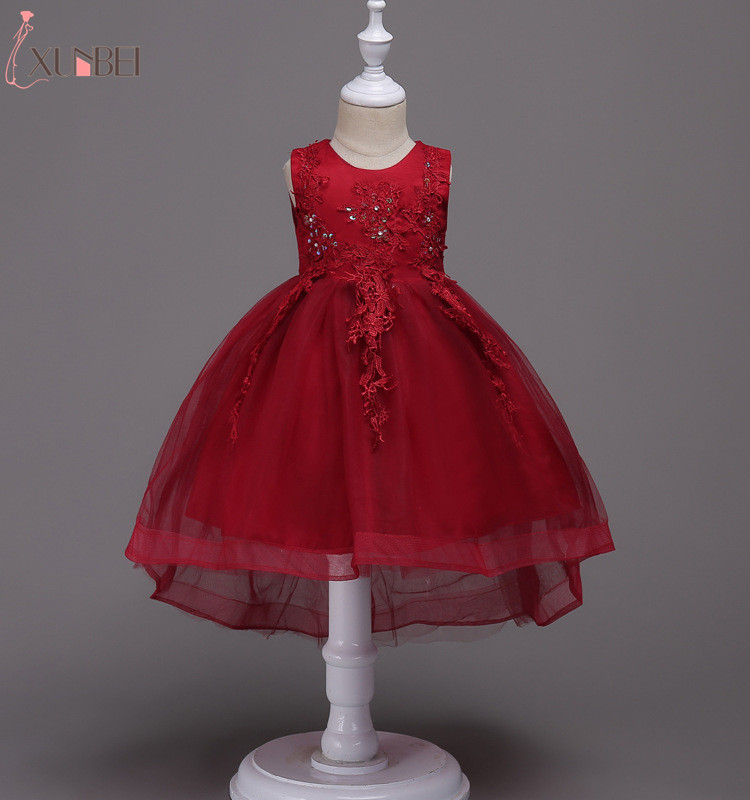 Lovely High Low Tulle   Flower     Girl     Dresses   With Shawl 2019 Crystal Appliqued   Dresses   For   Girls   Kids Prom   Dresses   vestido daminha