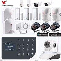 Yobang Security WIFI GSM Alarm Systems Security Home Smoke Alarm Detector APP Control IP Camera Strobe Siren DIY KIT