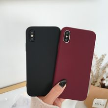 Caso di protezione per il iphone 7 plus 8 6 6S Plus fonda Giallo di Colore TPU Gomma Custodia In Silicone per iPhone X Xs Max Xr Opaca Soft Cover(China)
