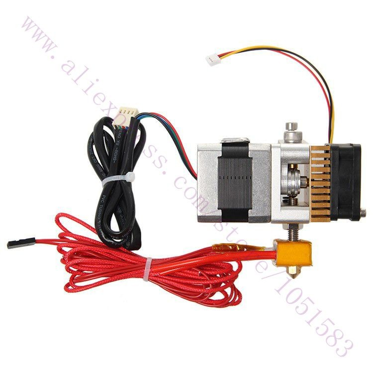 New, 12V MK8 Upgrade Version Extruder Print Head for 1.75mm Filament Makerbot / Reprap 3D Printer 0.2/0.3/0.4mm Nozzle Optiona heacent mk8 0 3mm nozzle 1 75mm filament extruder for makerbot reprap mendel i3 diy 3d printer