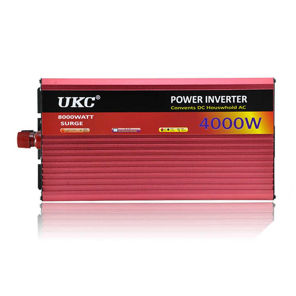 УКС 12 в 4000 Вт/4 кВт модифицированный синусоидальный инвертор, 12 В 110 в автомобильный инвертор с кабелем аккумулятора, полная защита