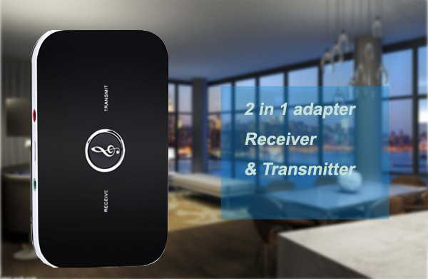 B6 bluetooth wireless audio receiver and transmitter 2in1 adapter 1