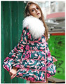 Women's Medium Long Skirt Jacket White Duck Down Parkas Sheep Fur 2016 Winter Female Thick Down Outerwear Overcoat High Quality