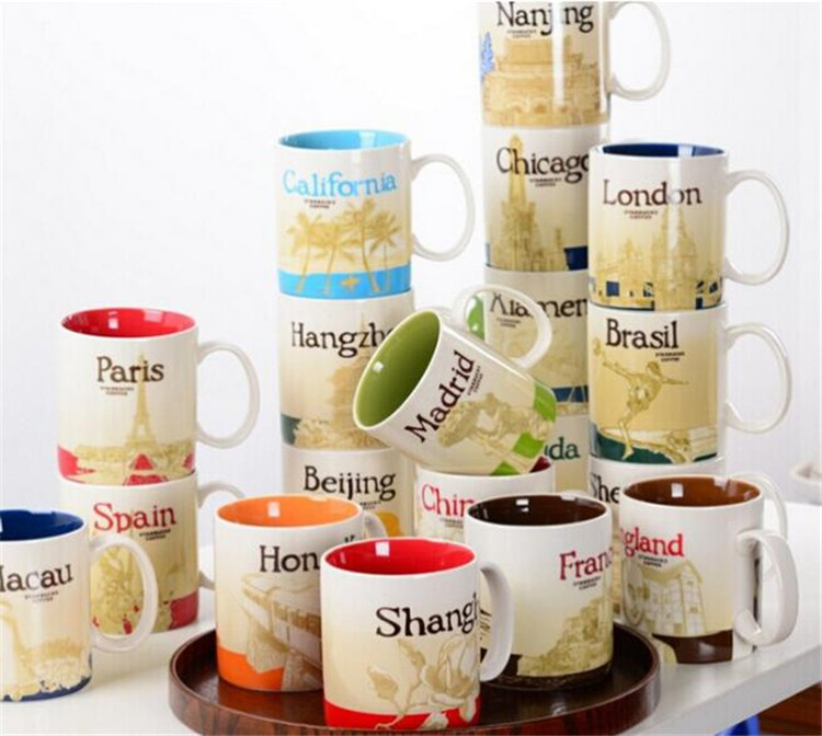 <font><b>China</b></font> and Foreign City Mark <font><b>Cup</b></font> Ceramic <font><b>Cup</b></font> Coffee mugs Porecelain Mug Tea <font><b>Cups</b></font>
