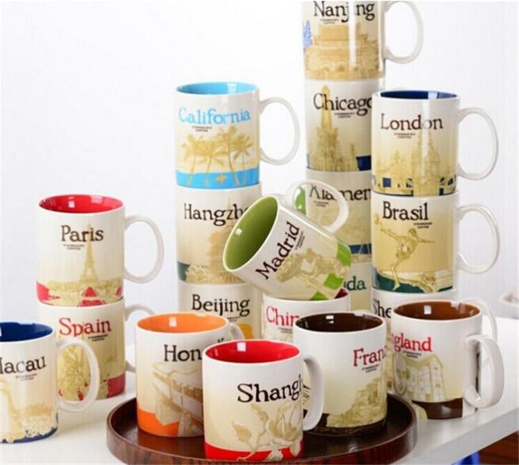 China and Foreign City Mark <font><b>Cup</b></font> Ceramic <font><b>Cup</b></font> <font><b>Coffee</b></font> mugs Porecelain Mug Tea <font><b>Cups</b></font>