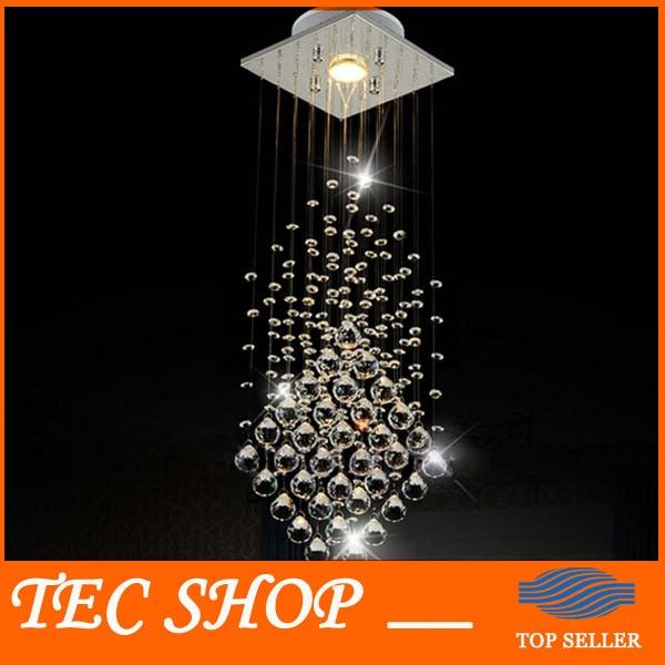 ФОТО Best Price Modern Luxury Crystal Chandelier Diameter 20*Height 75cm Simple Hanging Cord Crystal Lamp For Entrance way Aisle