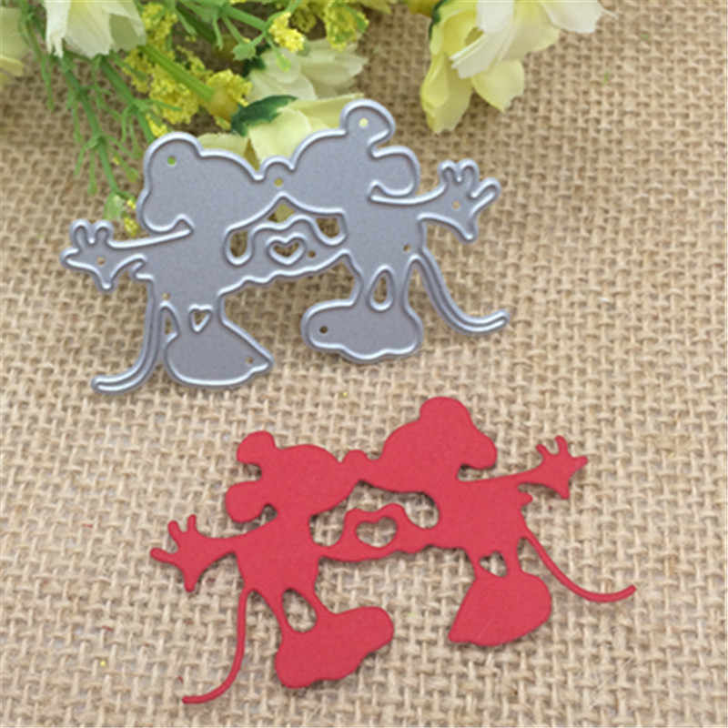 Love cartoon mouse for Scrapbook Metal Cutting Dies Stencil Scrapbooking Photo Album Card Paper Embossing Craft DIY