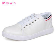 Spring men leather sports shoes outdoor waterproof breathable pure white skateboarding shoes Popular wear sneakers