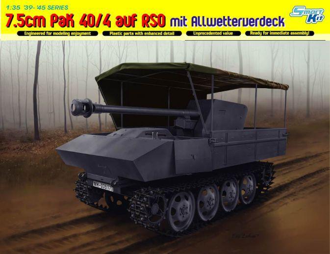 купить Dragon model 6679 1/35 scale 7.5cm PaK 40/4 auf RSO mit Allwetterverdeck по цене 2855.9 рублей