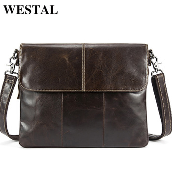Messenger Bag Men Genuine Leather Men's shoulder bags male Casual Zipper Crossbody Bags for men handbags