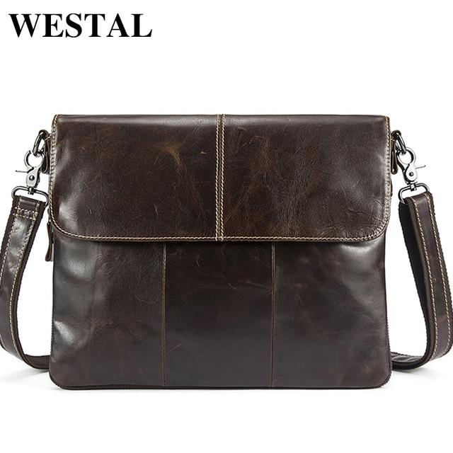 Messenger Bag Men Genuine Leather Men's shoulder bags male Casual Zipper Crossbody Bags for men handbags