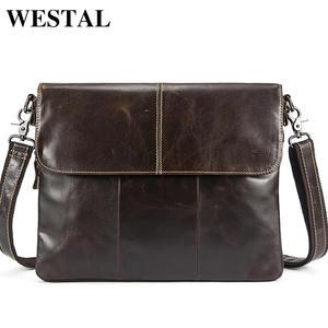 326e244dc7 WESTAL Messenger Bag Genuine Leather shoulder bags handbags