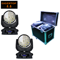 Road Case 2in1 Packing 108 3W Led Moving Head Wash Light 12 DMX Mode Smooth RGBW Color Liner Dimmer for Theater Club Use 90-240V