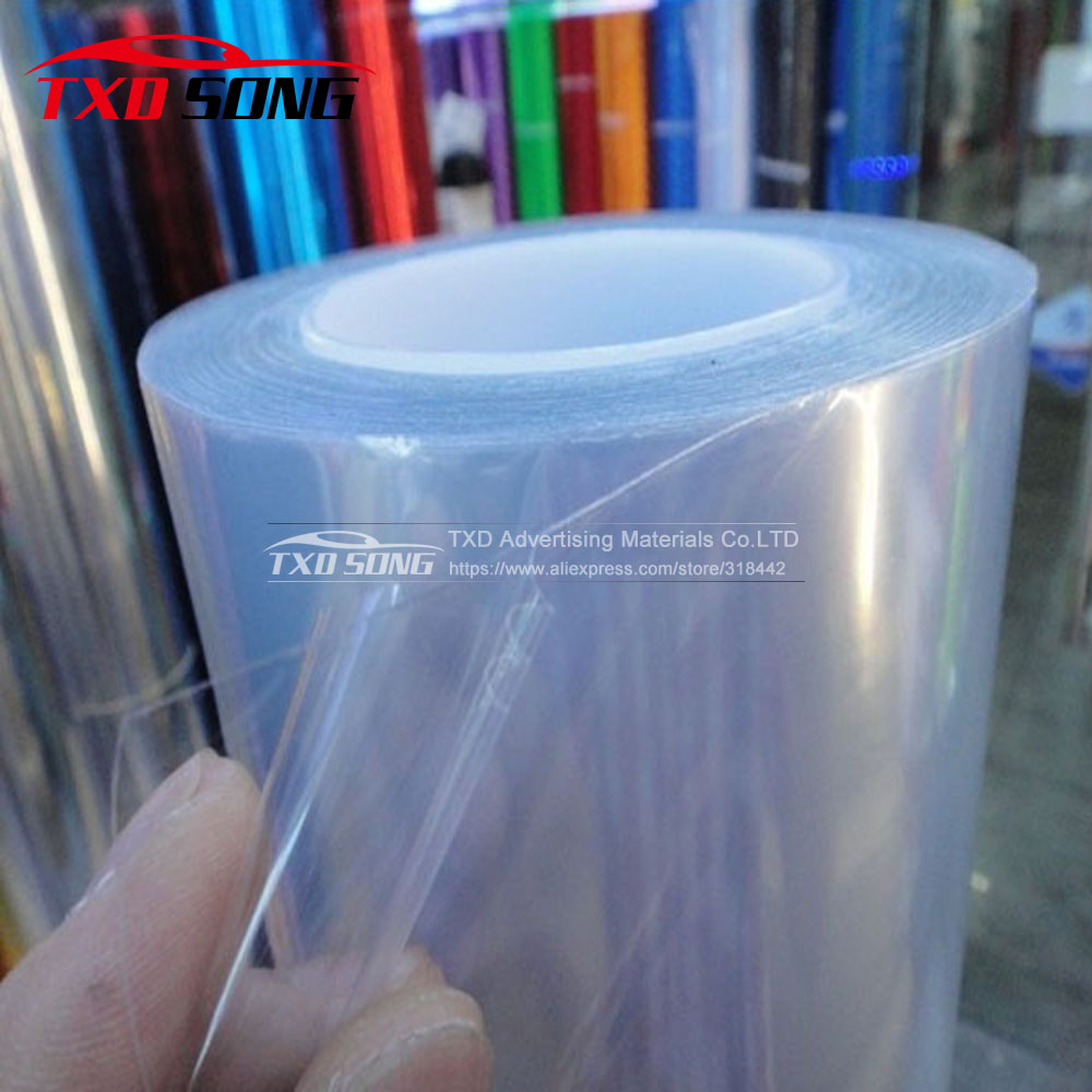 1.52*15M/Roll Car Paint Protection Foil PPF 3 Layers Glossy Transparent Car Paint Protection Film For Vehicle By Free Shipping