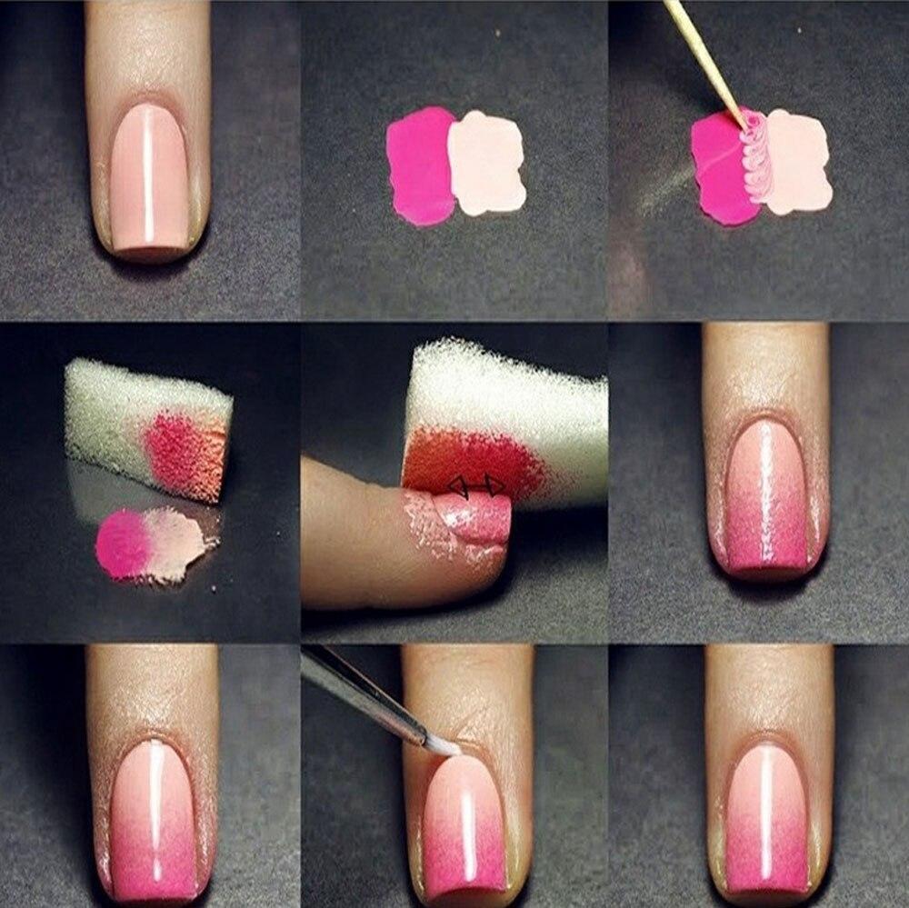 FOONBE 1 Pcs Gradient Nails Soft Sponges for Color Fade Manicure DIY ...