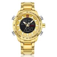 NAVIFORCE Brand Men S Gold Led Digital Quartz Watch Clock Men Army Military Sports Watches Man