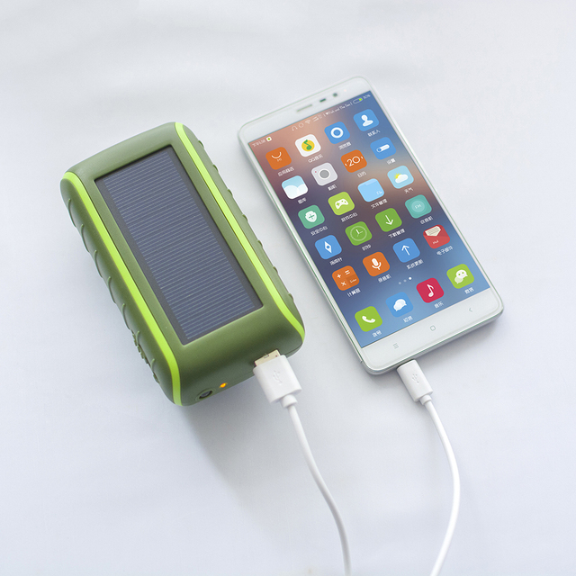 New Portable Solar Power Hand Crank Dynamo Cell Phone Charger + LED Flashlight Hand Crank function for iphone 7 7plus