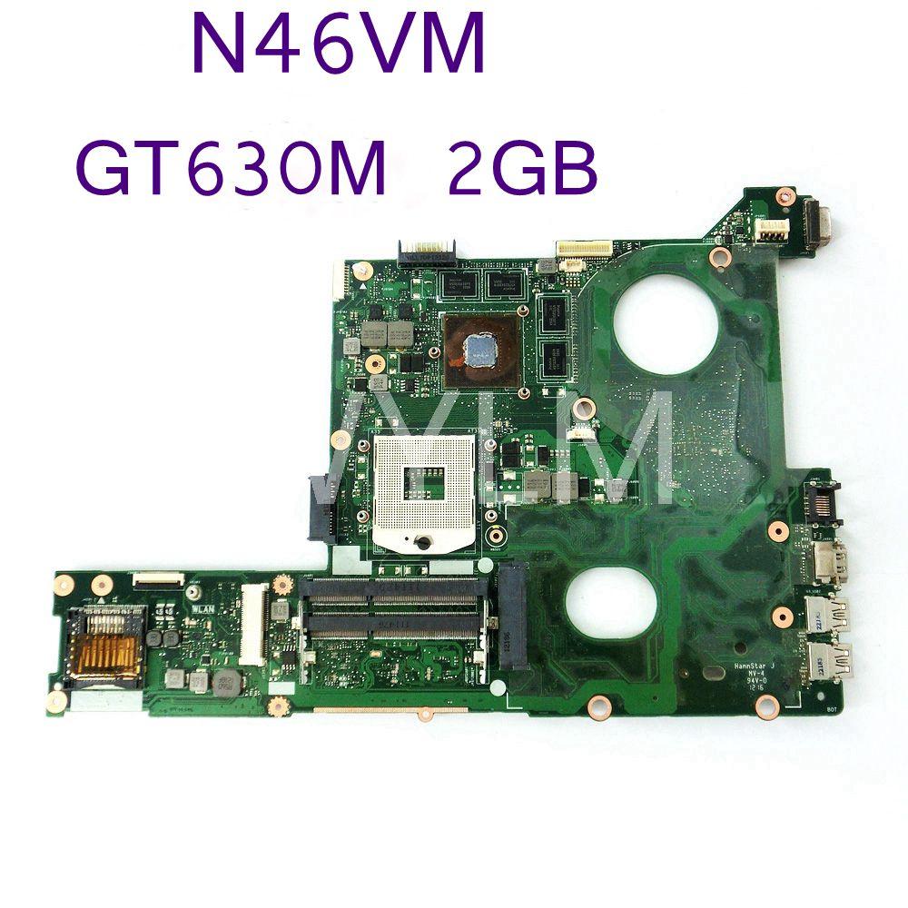N46VM GT630M 2GB N13P-GL-A1 Mainboard For ASUS N46VM N46VZ N46VJ laptop motherboard 60-N8IMB1400 DDR3 100% Tested working well free shipping new original n56v n56vm motherboard main board 60 n9jmb1300 gt630m n13p gl a1 100% tested working