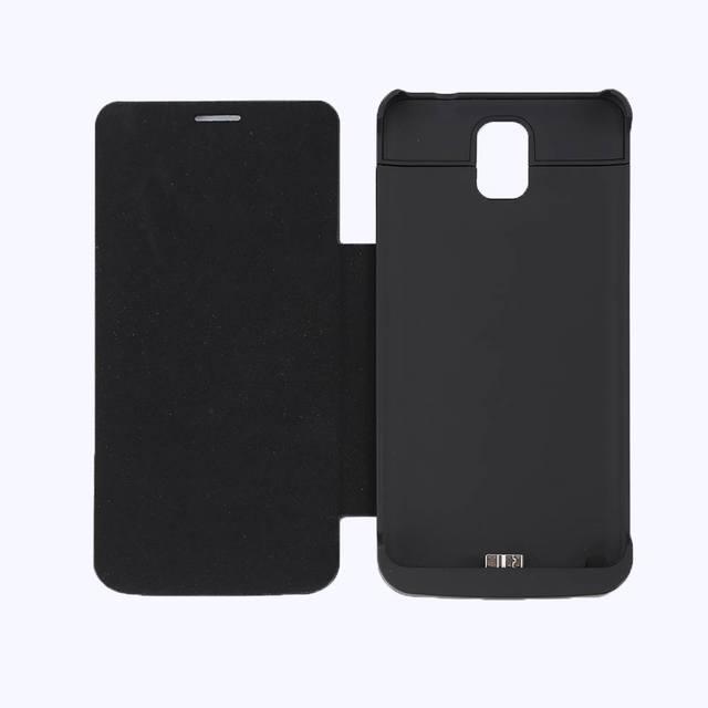 Новый 4200 мАч Батареи Банк Питания с Флип кожаный Чехол для Samsung Galaxy Note 3 Внешний Корпус Батареи Питания Высокого качество