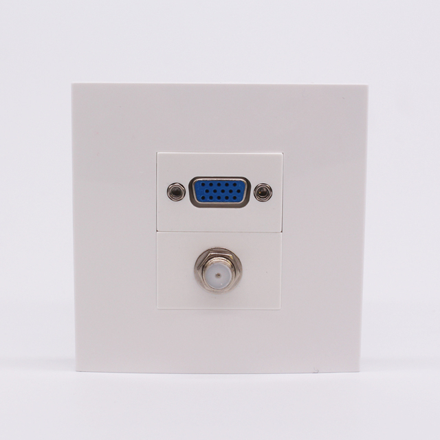 Outlet Faceplate Beauteous Wall Face Plate Vga  Digital Tv Panel White Color Outlet F Head Decorating Inspiration