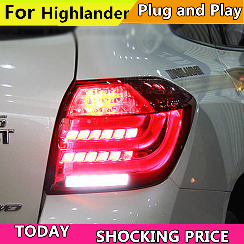 Car Tail Lights >> Doxa Car Tail Lights For Toyota Highlander 2012 2014 Taillights Led Tail Light Rear Lamp Drl Brake Signal Auto Back Lamp Big Discount 11 11 Double