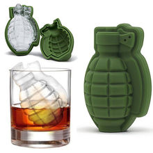 3D Ice Buckets Cube Mold Grenade Shape Cream Maker Bar Drinks Whiskey Wine Silicone Kitchen Tool