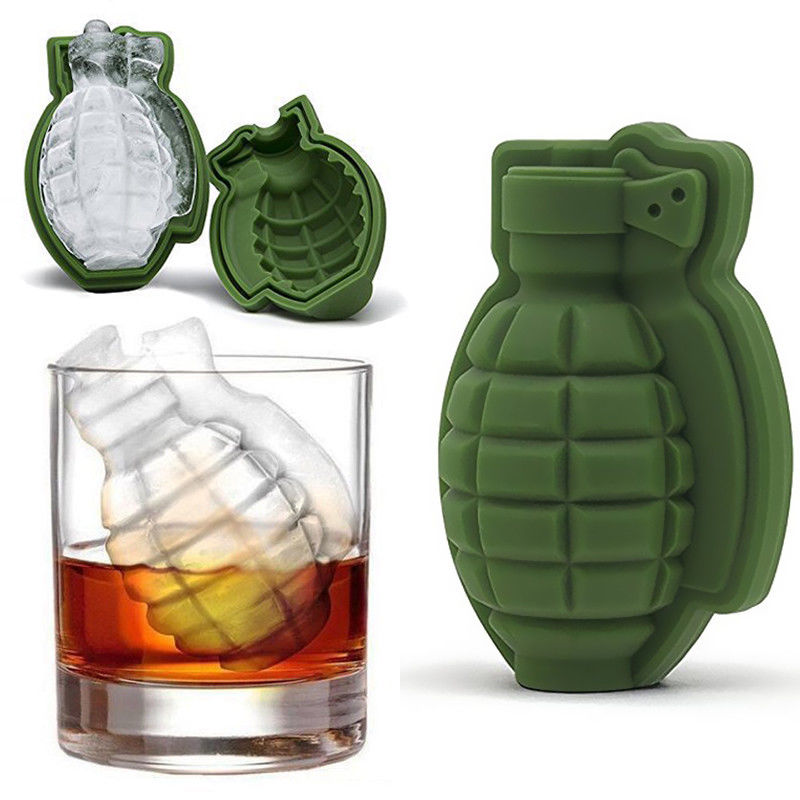 3D Ice Buckets Cube Mold Grenade Shape Ice Cream Maker Bar Drinks Whiskey Wine Ice Maker Silicone Kitchen Tool image