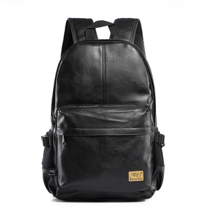 Image 2 - Three box 2017 Brand Leather Mens Backpack Fashion Three Colour Travel Backpack Laptop Vintage Leather School Bag Weekend Bags
