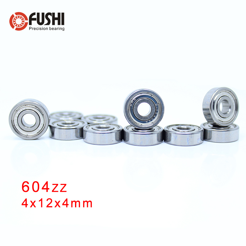 604ZZ ABEC 5 100PCS 4x12x4 MM Miniature Ball Bearings 604ZZ EMQ Z3V3