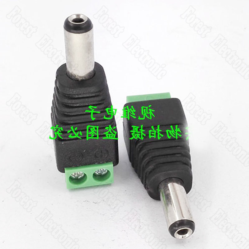 10pcs lot DC Male Vedio Power Connector Monitoring DC Connector Green 2 1 5 5