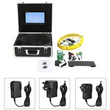 Pipe Inspection Endoscope System Video Camera 10 LCD 6LED 20M Cable Sewer Inspection System 100-240V Borescopes