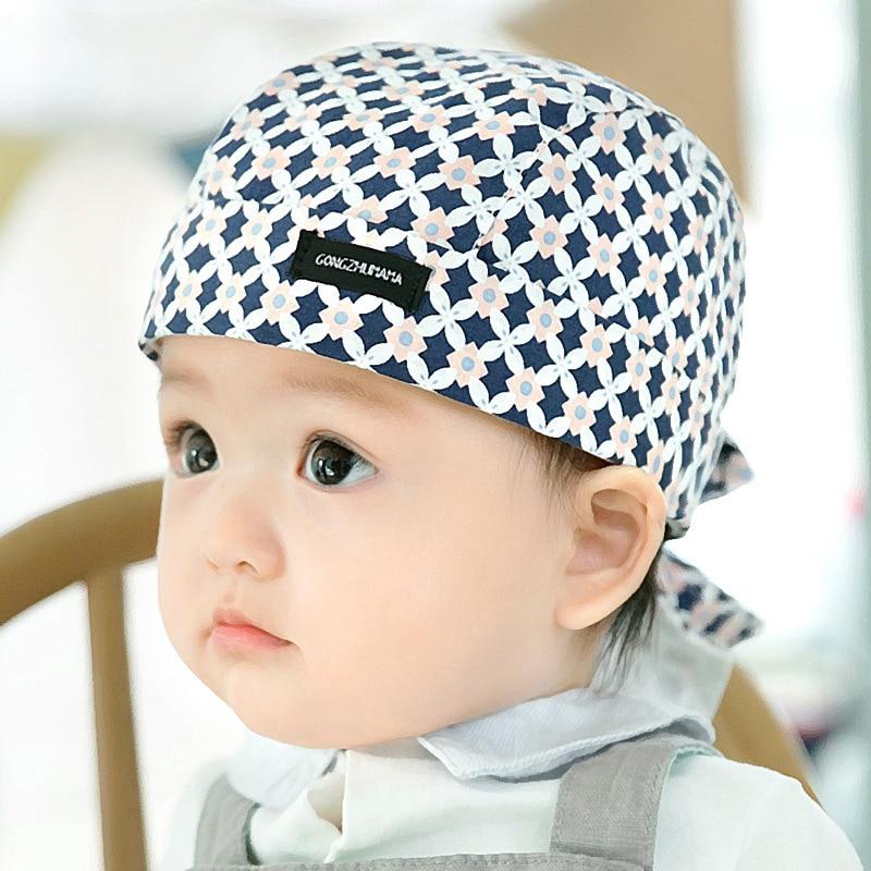 2017 Brand baby pirate caps hats Crochet Beanie boys girls newborn toddler infant Accessories kids cartoon Bandanna cap 6-12m