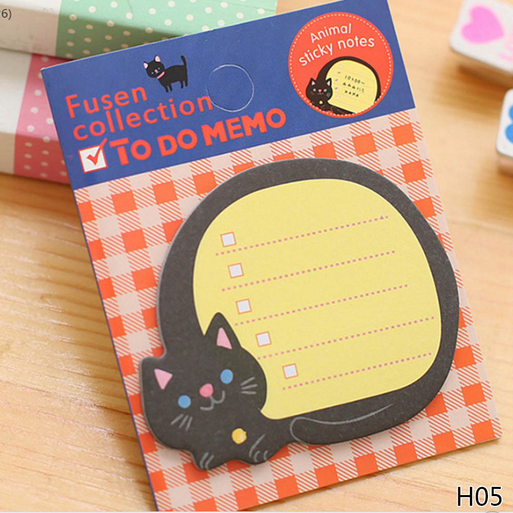 1Pcs Animale de desene animate Memo Pad Paper Sticky Notes Post - Blocnotesuri și registre - Fotografie 5