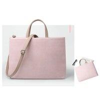 Soft Leather Women Laptop Messenger Bag 13 14 15 15 6 11 12 Inch Notebook Crossbody
